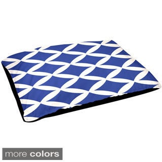Indoor 30x40-inch Geometric Pattern Removable Cover Dog Bed