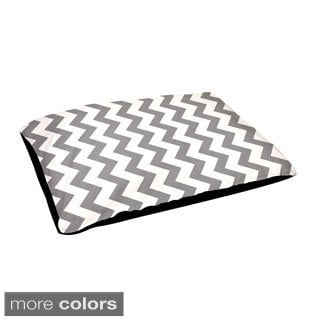 Indoor 18x28-inch Zig-zag Geometric Pattern Dog Bed