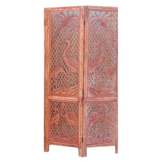 Carved Crane Screen