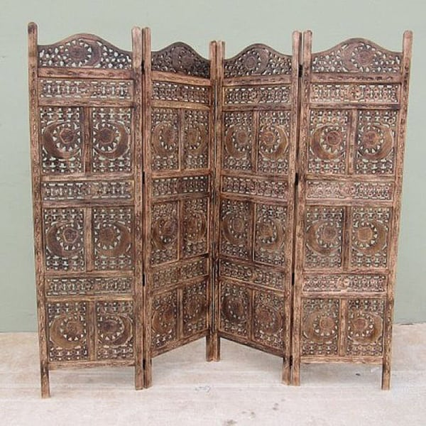 Carved Sun and Moon Screen