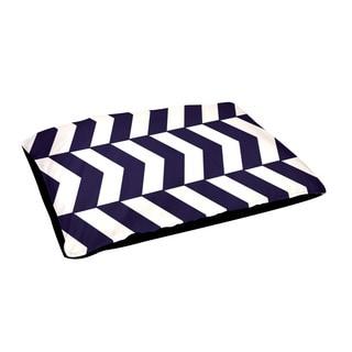 Indoor 28x48-inch Alternating Geometric Dog Bed