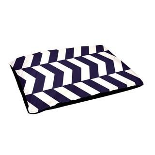Indoor 30x40-inch Alternating Geometric Pattern Dog Bed