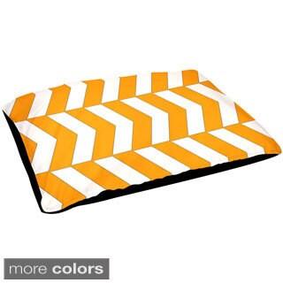 Indoor 30x40-inch Alternating Geometric Dog Bed