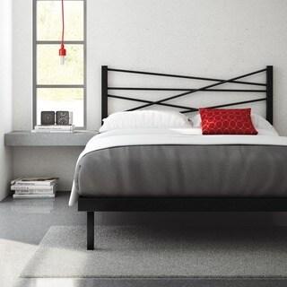 Amisco Crosston Queen Size Metal Platform Bed 60-inches