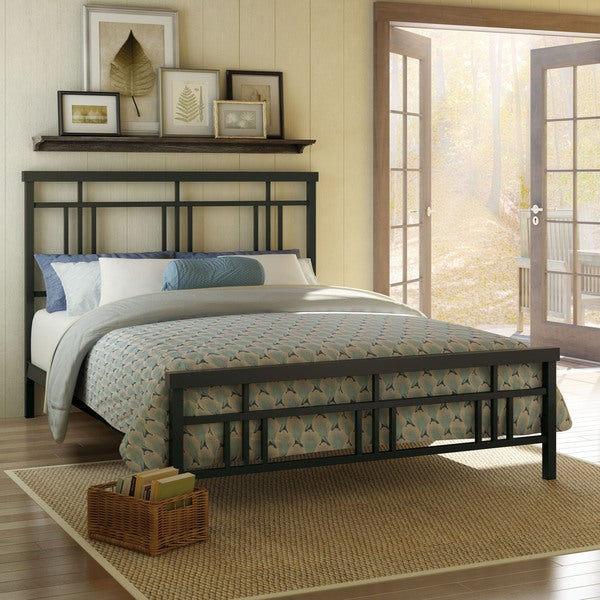Amisco Cottage Full Size Metal Headboard & Footboard 54 inch