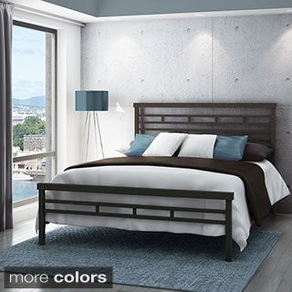 Amisco Highway Full Size Metal Headboard and Footboard 54-inch