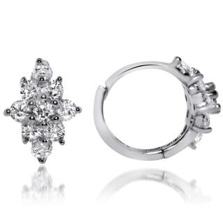 Gioelli Sterling Silver Flower endless Cubic Zirconia Earrings