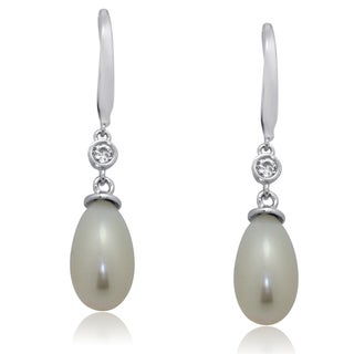 Gioelli Sterling Silver Freshwater Pearl Dangle Earrings