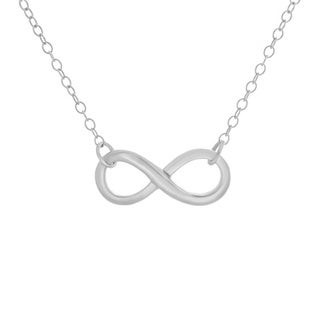 Sterling Essentials Silver Infinity Pendant Necklace