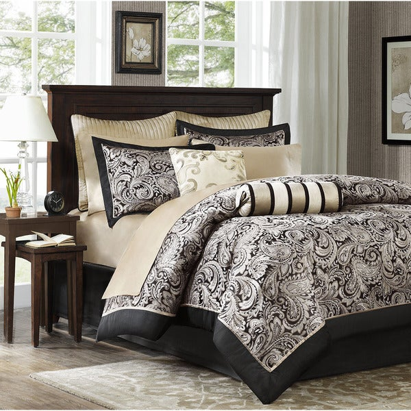 Madison Park Wellington 6-piece Duvet Cover King-size Set (As Is Item)