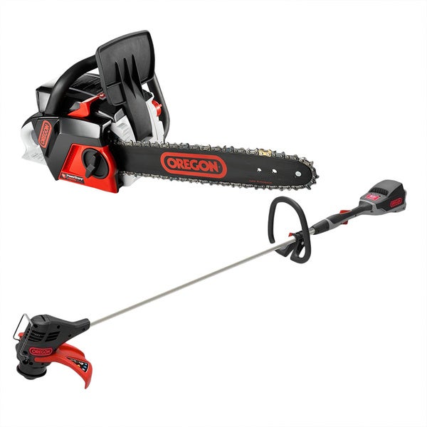 Oregon PowerNow CS250 Chainsaw and ST250 String Trimmer/ Edger Combo Kit