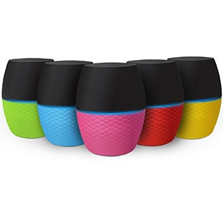 Latte SoundMagic Mini Color Changeable Portable Bluetooth Speaker with a powerful speaker and built-