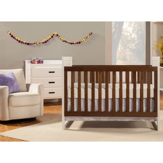Modena Mod Two Tone 3-in-1 Convertible Crib