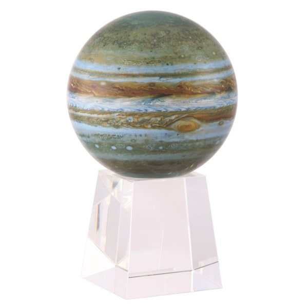 MOVA 4.5-inch Solar Powered Jupiter Globe on Crystal Base