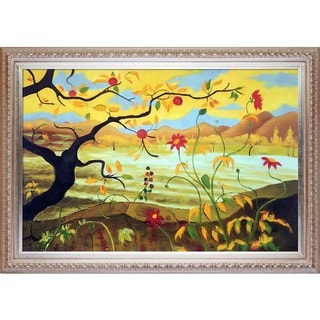 Paul-Elie Ranson 'Apple Tree With Red Fruit' Hand-painted Framed Canvas-art