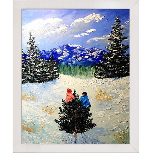 Peggy Miller 'Bringing Home the Tree' Framed Fine Art Print