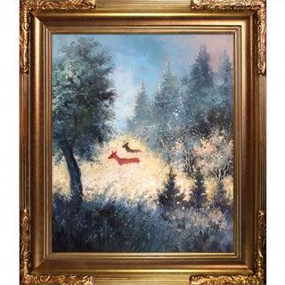Pol Ledent 'September Morning' Hand-painted Framed Canvas-art