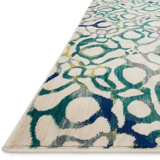 Skye Monet Teal/ Multi Rug (7'7 x 10'5)