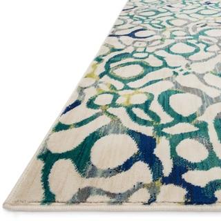 Skye Monet Teal/ Multi Rug (5'2 x 7'7)