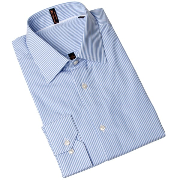 Ben Sherman Men's Striped Blue Dress Shirt
