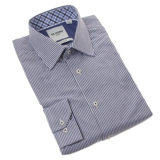Ben Sherman Men's Navy Striped Dress Shirt