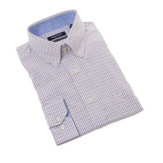Nautica Men's Red Check Dress Shirt