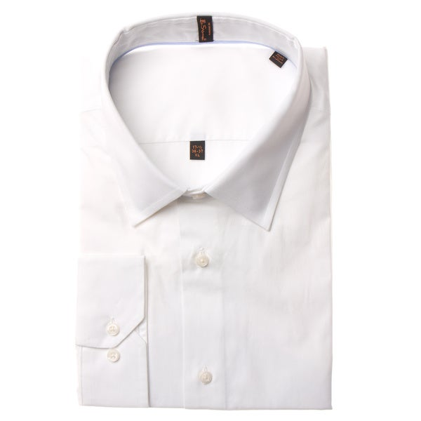 Ben Sherman Men's Slim Fit Solid White Dress Shirt