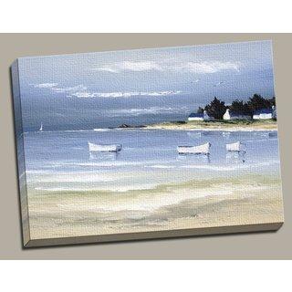 Portfolio 'Coastal Inlet II' Large Framed Printed Canvas Wall Art