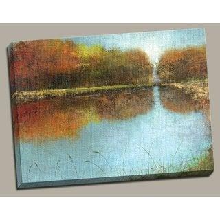 Portfolio 'River Wide' Large Framed Printed Canvas Wall Art