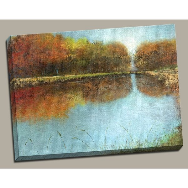 Canvas Decor 39 River Wide 39 Large Framed Printed Canvas Wall Art