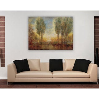 Portfolio 'Summer Solstice' Large Framed Printed Canvas Wall Art