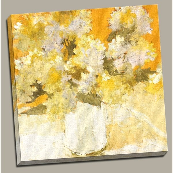 Portfolio 'White Hydrangea Bouquet' Large Framed Printed Canvas Wall Art