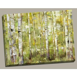 Portfolio 'Essence of Green' Large Framed Printed Canvas Wall Art