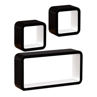 Upton Home Marrero Black/ White 3pc Shelf Set