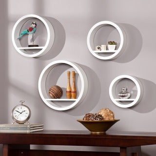 Upton Home Buras White 4-piece Circular Shelf Set