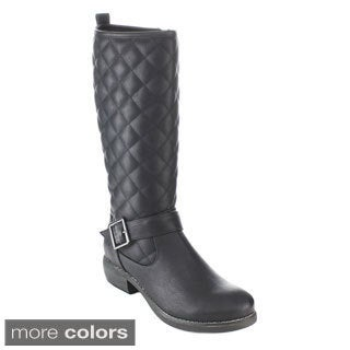 C-Lable Cathy-12A Women's Quilted Knee High Riding Boots