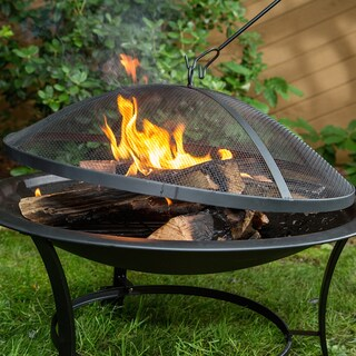 Outdoor 30-inch Steel Fire Pit