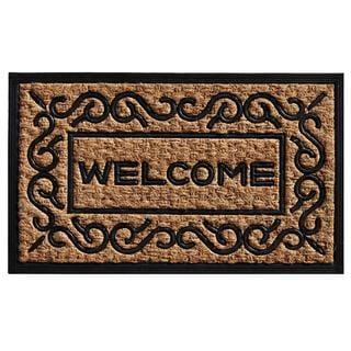 Carbella Coir and Rubber Doormat (1'6 x 2'6)