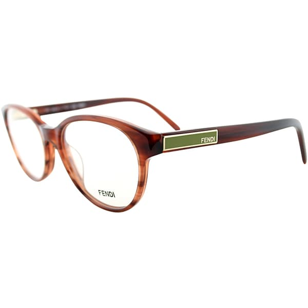 Fendi Unisex Brown Striped Eyeglasses