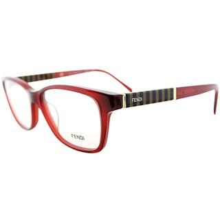 Fendi Women's Dark Red Striped Eyeglasses