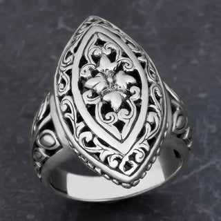 Sterling Silver 'Floral Paradise' Cawi Ring (Indonesia)