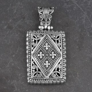 Sterling Silver 'Glorious Faith' Cawi Pendant (Indonesia)