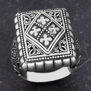 Sterling Silver 'Glorious Faith' Cawi Ring (Indonesia)