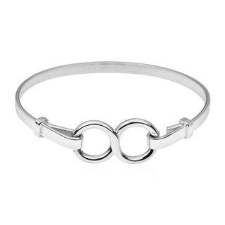 Unique Infinity Symbol .925 Sterling Silver Bracelet (Thailand)