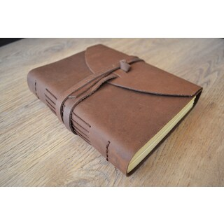 Sitara Handmade Luxury Leather Journal with Tie Closure and Unlined Paper (India)