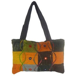 Women's Handmade Colorful Hemp Handbag (Nepal)