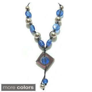 Tiara Global Glass Beads Handmade Sequence Necklace