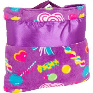 OC Daisy Candy Print Napbag Travel Blanket and Pillow Set