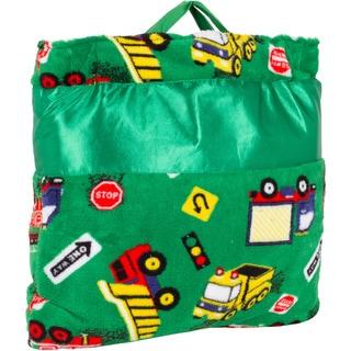 OC Daisy Green Truck Napbag Travel Blanket and Pillow Set