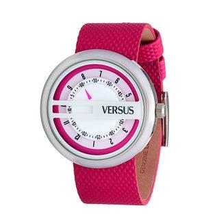 Versus by Versace Women's SGI040013 'Osaka' Round Pink Band Watch